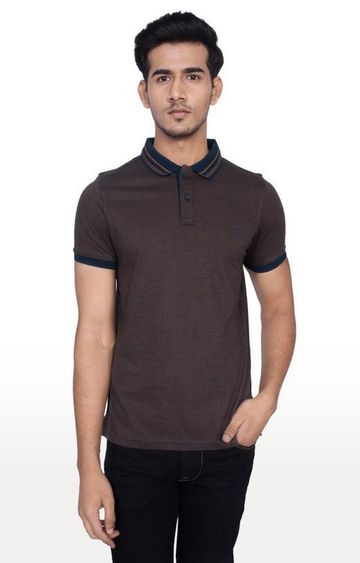 Turtle | Brown Melange Polo T-Shirt