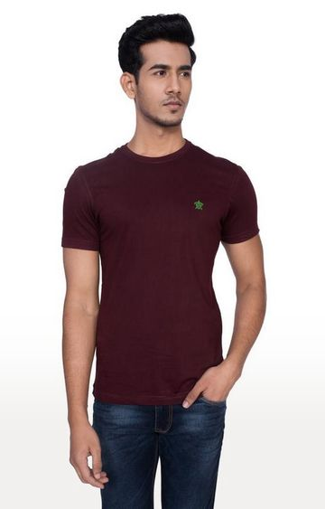 Turtle | Brown Solid T-Shirt