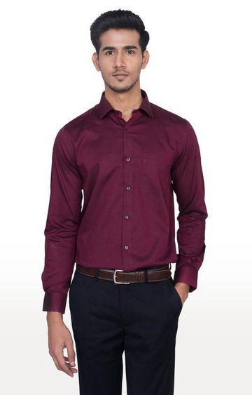 Turtle | Maroon Solid Formal Shirt