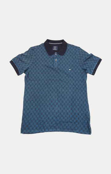 Turtle | Blue Checked Polo T-Shirt