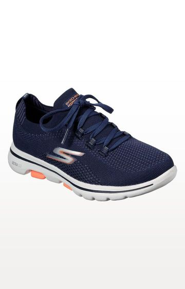 Skechers | Navy Go Walk 5 - Uprise Trainers