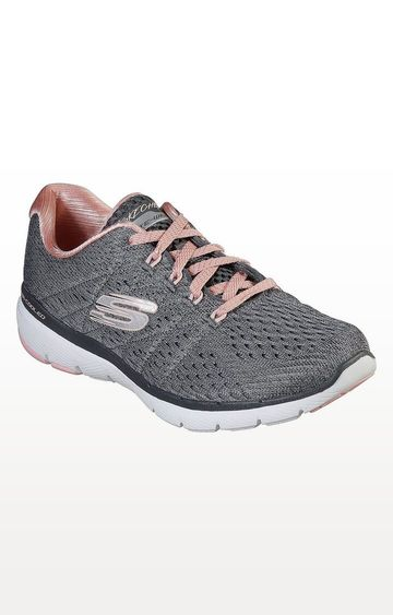Skechers | Grey Flex Appeal 3.0 Satellites Sports Shoes