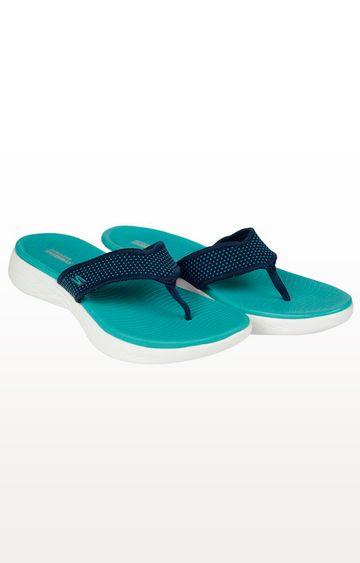 Skechers   Navy Flip Flops