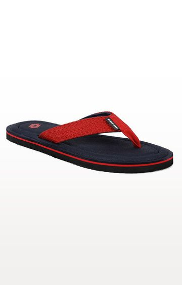 Lotto   Red and Blue Valeria Flip Flops