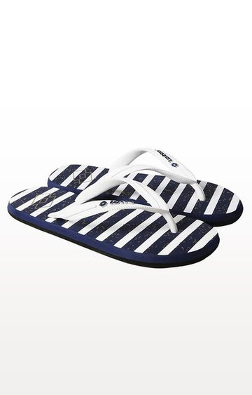 Lotto | Lotto White and Navy Tivio Flip Flops