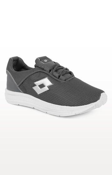 Lotto   Lotto Kid's Remo Black/White/D.Grey School Shoes
