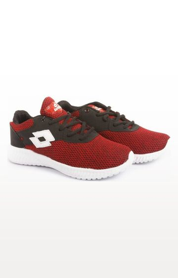 Lotto   Lotto Kid's Oliver Maroon/White School Shoes
