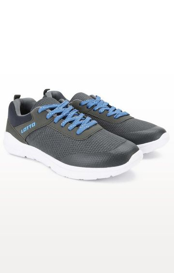 Lotto   Lotto Men's Drip Run Grey/Blue Lifestyle Shoes
