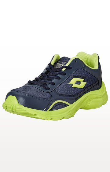 Lotto   Navy and Lime Tempo Running Shoes