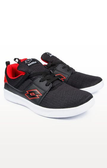 Lotto | Black and Red String Running Shoes