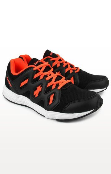 Lotto | Lotto Men's Sleek Black/ Coral Running Shoes
