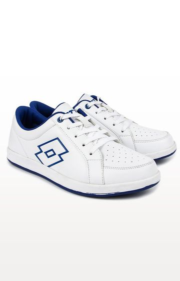 Lotto | Lotto White and Blue Logo Plus W Sneakers