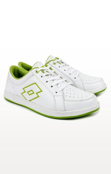 Lotto | Lotto White and Lime Logo Plus W Sneakers