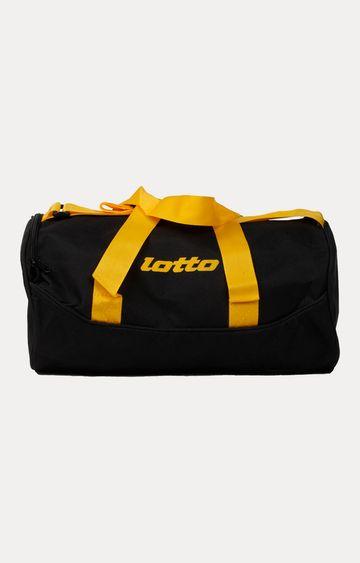 Lotto | Black and Yellow Duffle Bag