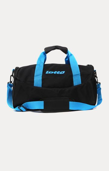 Lotto | Black and Blue Duffle Bag