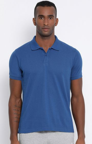 Lotto | Blue Solid Polo T-Shirt