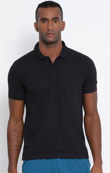 Lotto   Lotto Men's Polo Basic PC Black T-Shirt