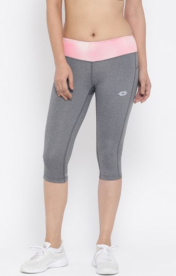 Lotto | Lotto Women's Xride III Legg. Mid Bs W Grey/Green/Grey Leggings