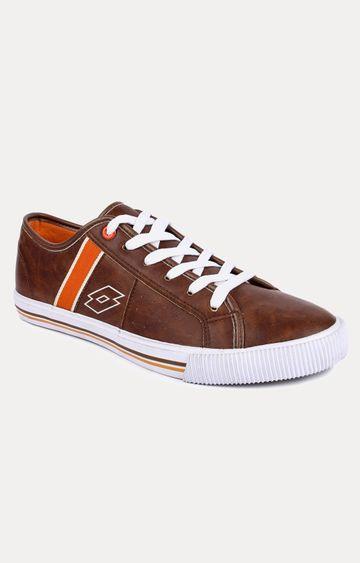 Lotto | Lotto Men's Dezire Tan/White/Orange Lifestyle Shoes
