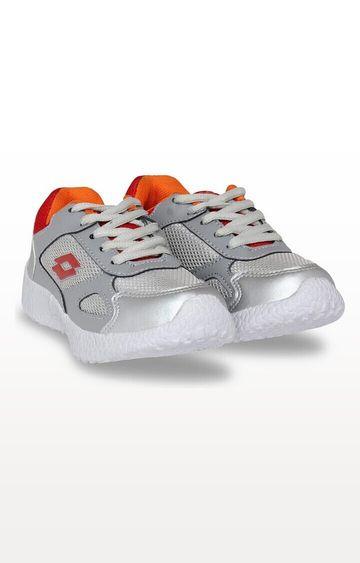 Lotto   Lotto Kid's Speedride Jr Grey/ Orange/ White Training Shoes