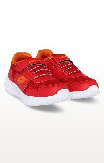 Lotto   Lotto Kid's Megalight Jr Red/ Orange/ White Training Shoes