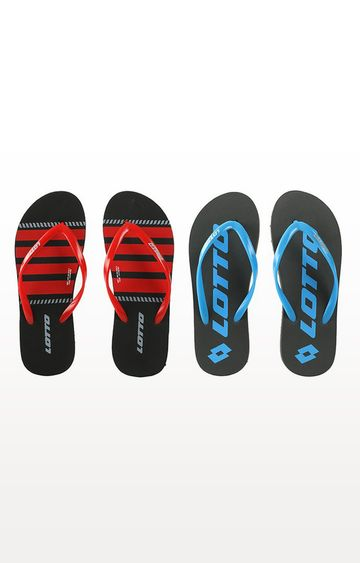 Lotto | Lotto Multicoloured Kway-Floppy Flip Flops - Pack of 2