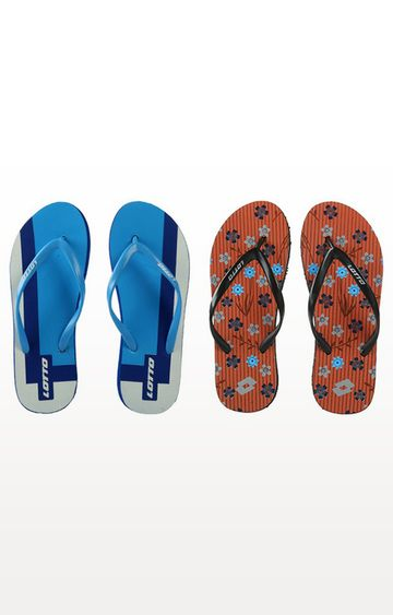 Lotto | Lotto Multicoloured Glance-Cita Flip Flops - Pack of 2