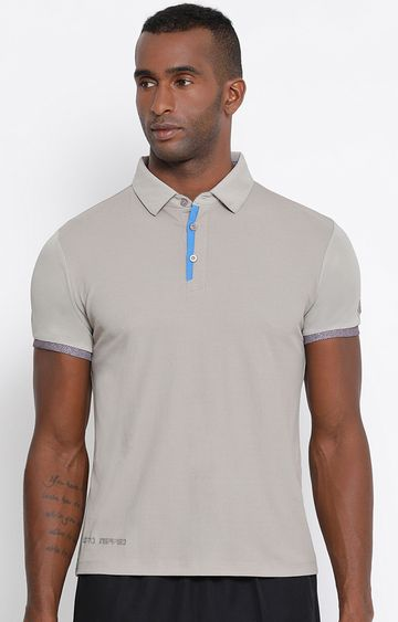 Lotto | Grey Solid Wren Polo T-Shirt