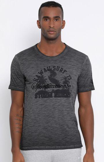 Lotto | Charcoal Printed Hawai T-Shirt