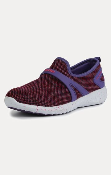 Lotto | Knitted Slip-on Purple Sneakers