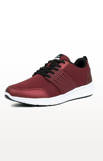 Lotto   Maroon and White Sky Player Trainers