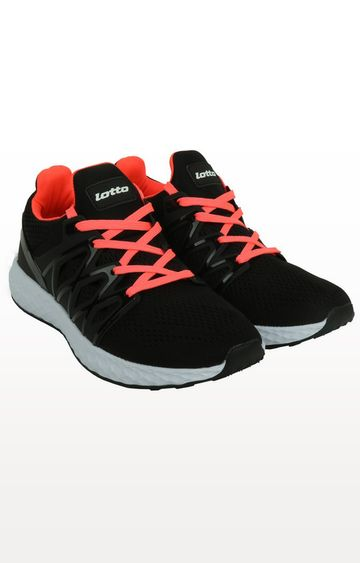 Lotto | Lotto Black and Red Syn Dance Running Shoes