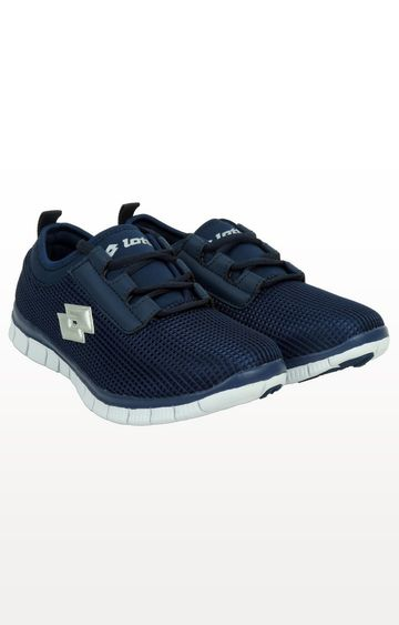 Lotto | Navy and Silver Tulsa Running Shoes