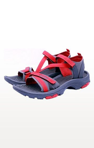 Lotto | Lotto Grey and Red Terra Floaters