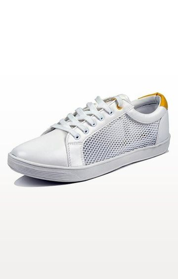 Lotto | White and Yellow Grand Rapids Sneakers