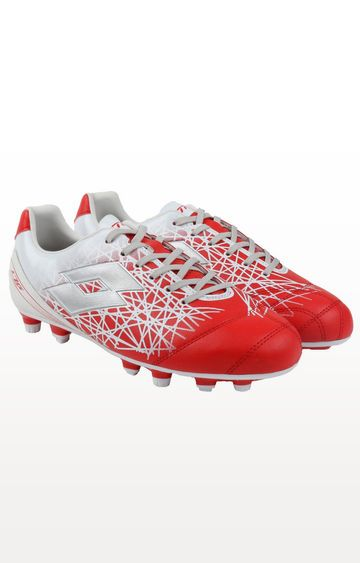Lotto   Lobster Red and Silver Metal Lzg Xii 700 Fgt Football Shoes