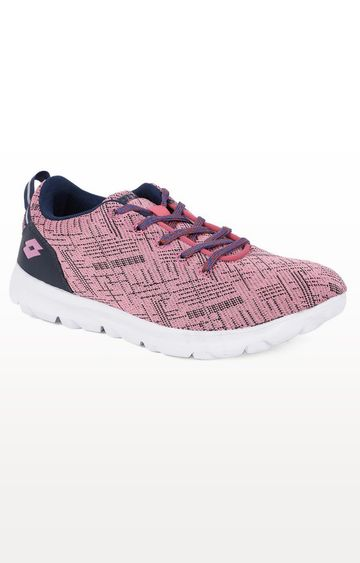 Lotto | Lotto Light Pink and Black Barca Trainers