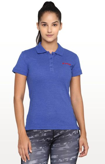 Lotto   Blue Solid T-Shirt