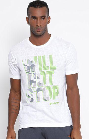 Lotto | White Printed L73 T-Shirt
