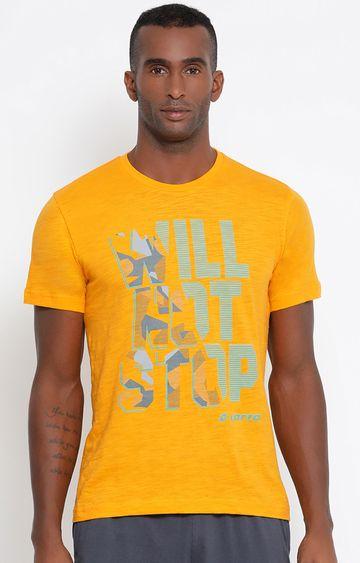 Lotto | Yellow Printed L73 T-Shirt