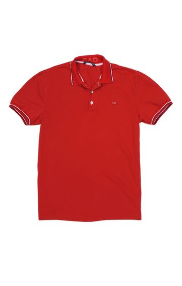 GAS | Ralph/S 3 Solid Red Polo T-Shirt
