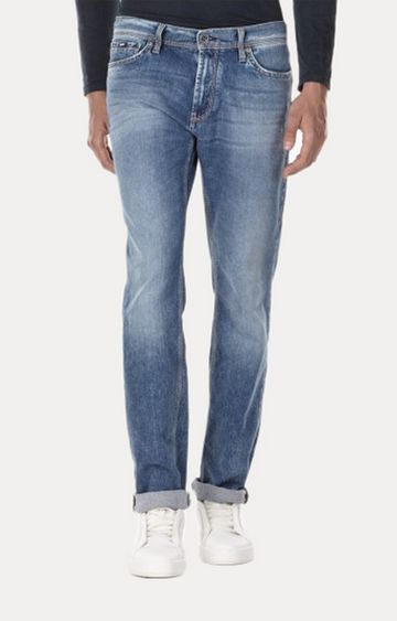 GAS   Norton K Mid-Washed Straight Fit Jeans