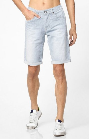GAS | Anders Mid-Rise Striped Slim Fit Shorts