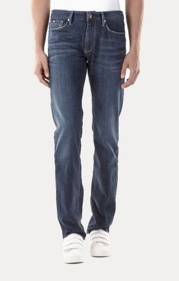 GAS   Blue Straight Jeans