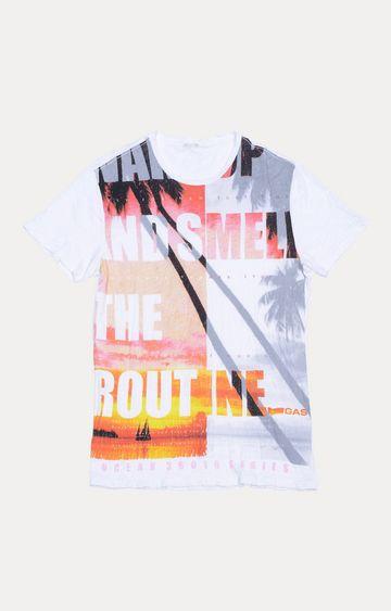 GAS | White Printed T-Shirt