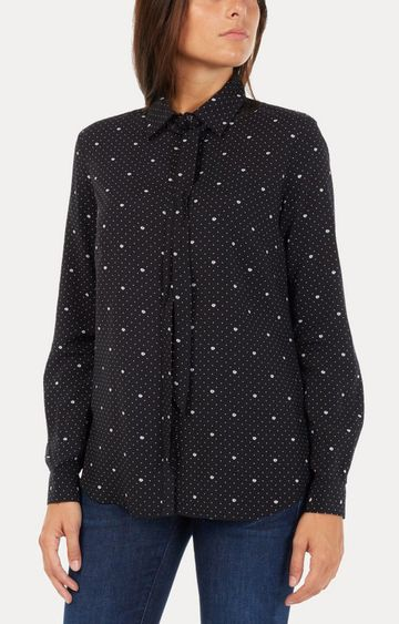 GAS | Women's regular fit collared full sleeves printed Bowy shirt