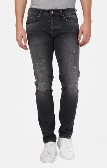 GAS | Basic Anders Slim Fit Lightly-Washed Distressed Jeans