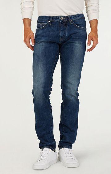 GAS   Men's Mitch Mid-Wash Blue Jeans