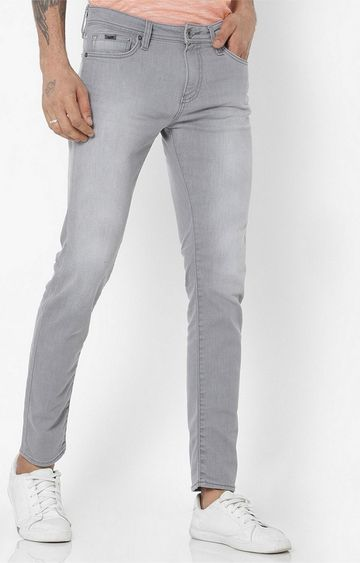 GAS | Sax Zip Mid-Washed Skinny Grey Jeans
