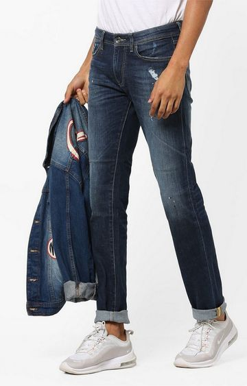 GAS | Albert Mid-Rise Slim Fit Washed Jeans